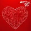 Abstract heart vector background. — Stock Vector #46661945