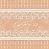 Convite ou cartão de casamento — Vetor de Stock