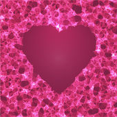 Abstract heart vector background. — ストックベクタ