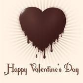 Happy Valentine's Day. Chokolate heart — Stock Vector