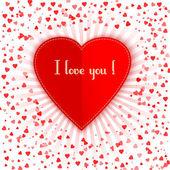 Einladungskarte. frohen valentinstag. — Stockvektor
