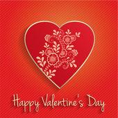 Invitation card. Happy Valentine's Day. — Stock Vector