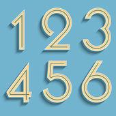 Vector retro numbers. — Stock Vector