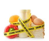 Nebezpečné potraviny — Stock fotografie