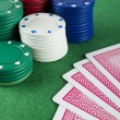 Gambling Chips and Cards — Stock Photo #28211817