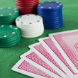 Stock Photo: Gambling Chips and Cards