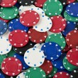 Stock Photo: Poker chips background