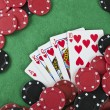 Winning poker hand — Stock Photo #28211845