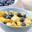 Stock Photo: Blueberries and cornflakes