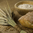 Stock Photo: Homemade bread ingredients