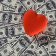 Love over money — Foto Stock