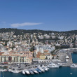 Yachts in nice harbour — Stock Photo