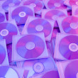 Colorful compact disks background — Photo