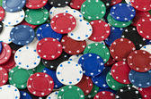 Poker chips background — Stock Photo