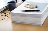 Lots of paperwork ahead — Stock Photo