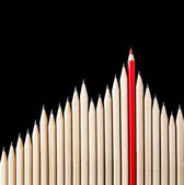 Outstanding red pencil — Stock Photo