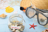 Saving for vacation — Stockfoto