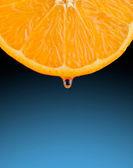 Orange Slice with a Drop of Juice — Stock Photo