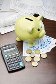 Spara efter att betala dina räkningar — Stockfoto