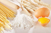 Homemade pasta scene — Stock Photo