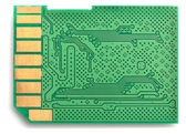 Inside of a memory card — Stock Photo