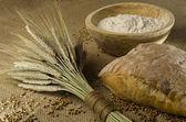 Homemade bread ingredients — Stock Photo