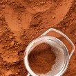 Cocoa powder with sieve — Stock Photo #29067599