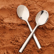 Cocoa spoons — Stock Photo