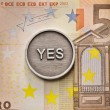 Saying Yes to European Union — ストック写真