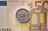Saying No to European Union — Stock Photo