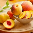 Stock Photo: Fresh peaches