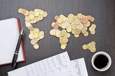 Finanse międzynarodowe — Zdjęcie stockowe