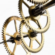 Gears mechanism, macro view — Stock Photo