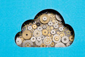 Cloud computing mechanism — Stock Photo