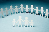 Paper chain family — Stock Photo