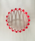Red people paper chain — Photo