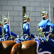 Swedish royal guard troops with horses — Stok fotoğraf