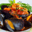 Neapolitan style clams — Stock Photo