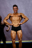 Male bodybuilder at stage — Stock Photo