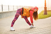 Warming before street workout — Stock Photo
