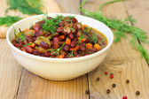 Baked red beans — Stock Photo