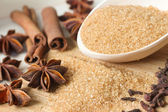 Brown sugar with sweet spices for bakery — Foto Stock