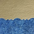 Golden paper and blue jeans texture background — Stock Photo