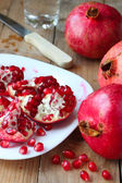 Seeds of red pomegranates — Stock Photo