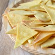 Homemade baked Mexican chips nachos - non-fried — Stock Photo #40873791