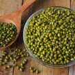 Raw mung beans in a bowl — Stock Photo #40873909