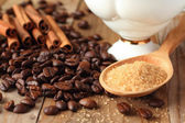 Coffee ingredients — Stock Photo