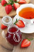 Jahodový džem — Stockfoto