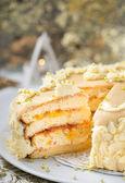 Pão de ló com geléia de damasco — Foto Stock