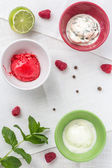 Homemade ice cream — Stock Photo